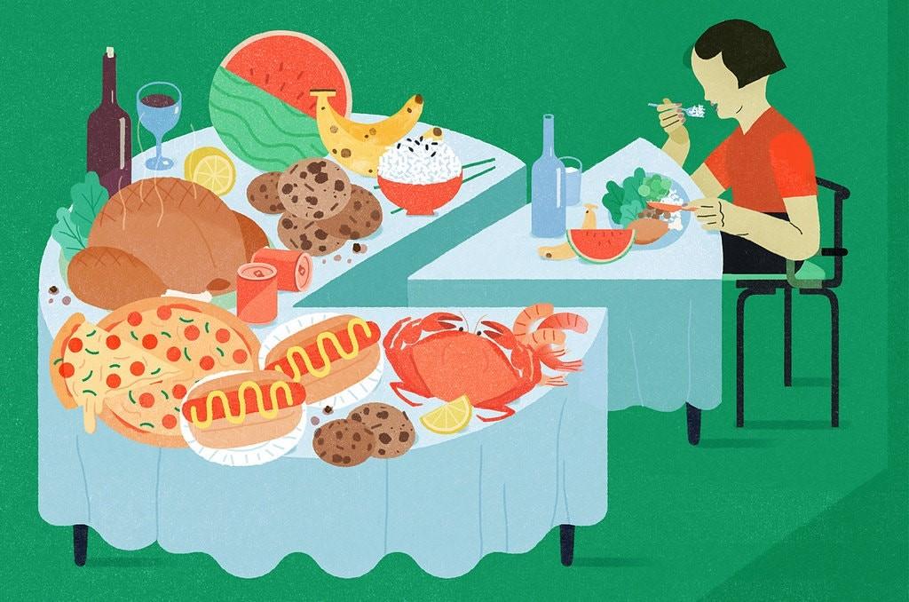 پرهیز از غذاهای پر کالری برای کاهش وزن